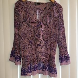 Avenue purple paisley blouse